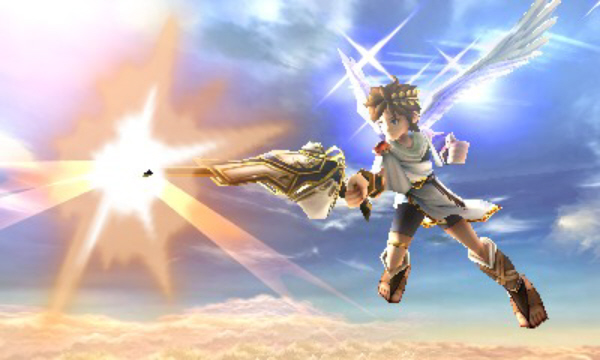 Pit Shoots the Sky in Kid Icarus: Uprising