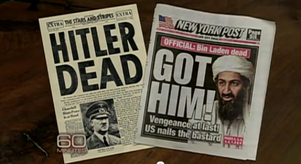 Death of Bin Laden and Hitler