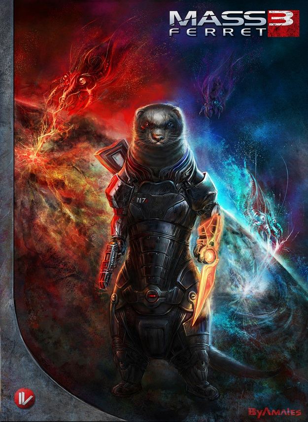 Ferret Shephard in Mass Effect Artwork