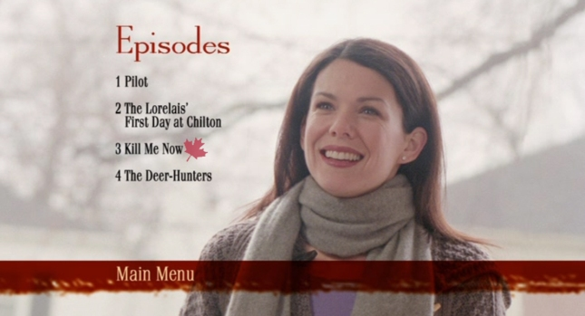 Gilmore Girls Kill Me Now Titlescreenshot - DVD Menu