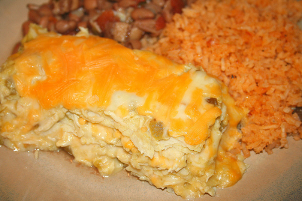 Green Chile Chicken Enchilada Casserole Pic