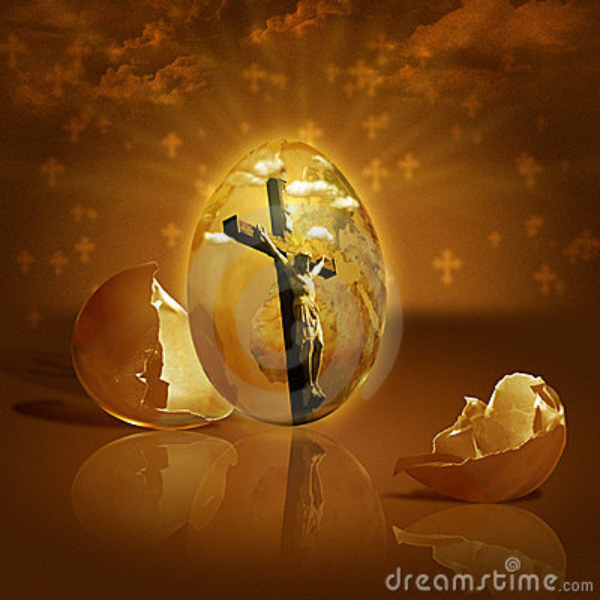 Jesus Inside Easter Egg 2012