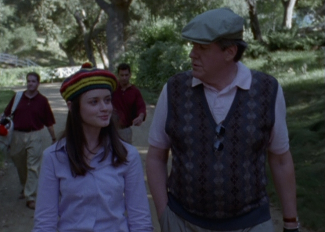 Rory and Richard At the Golf Country Club (Gilmore Girls screenshot)