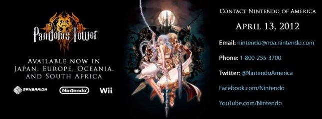 Demand Pandora's Tower In America!