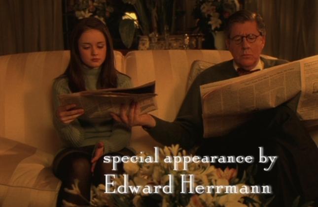 Rory and Richard (Gilmore Girls Screenshot)