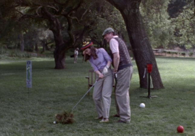 Rory Attempts to Golf With Her Grandpa Richard (Gilmore Girls Episode 3, Season 1)