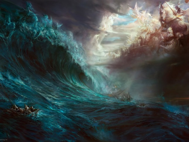 Angels vs Demons in the Ocean Copyright Ehong He
