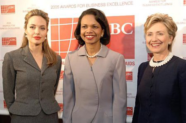 Condoleezza Rice and Hillary Clinton