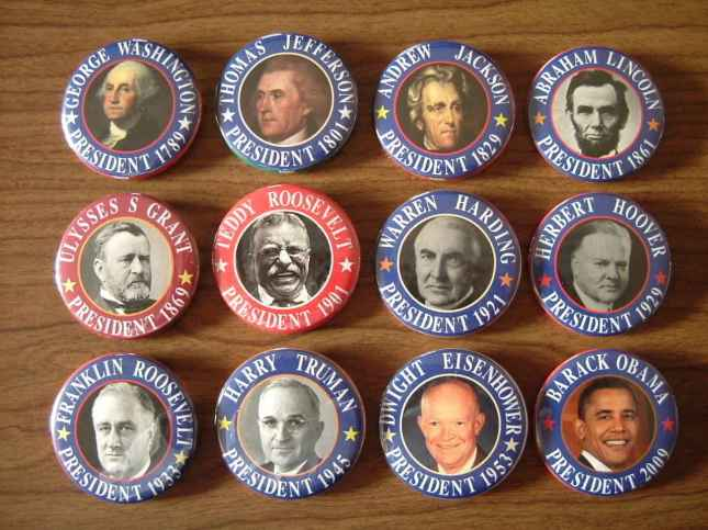 Historical US Presidential Pins