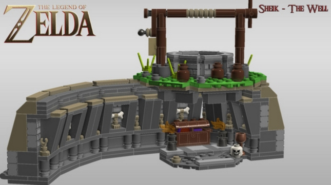 Lego Zelda Well Dungeon and Lens of Truth