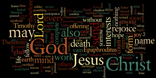 Philippians 2 Word Cloud Art