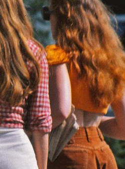 Redheaded Girls 1970s From Back
