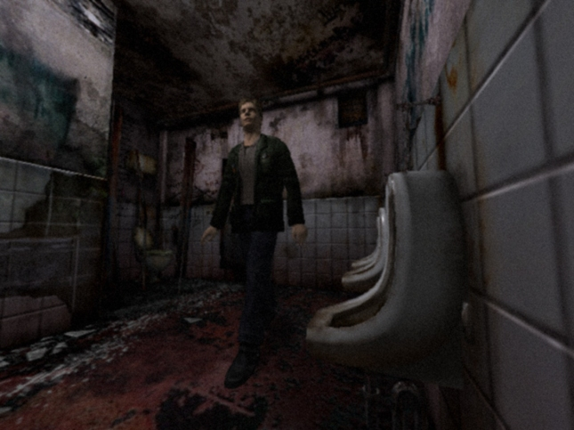 James In Bathroom Silent Hill 2 Gameplay Screenshot