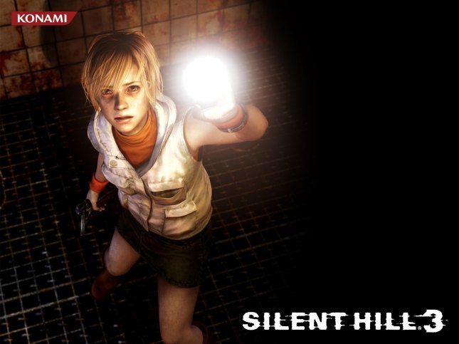 Silent Hill 3 Wallpaper (Heather Holding Flashlight)