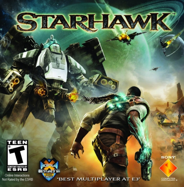 Starhawk American Boxart (Official) for PlayStation 3)