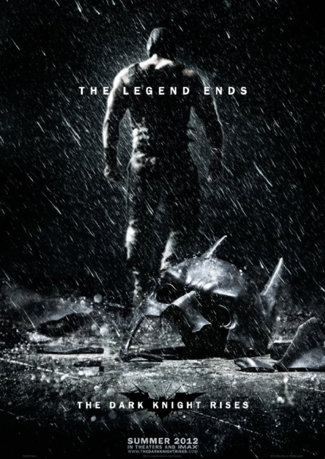 The Dark Knight Rises The Legend Ends Poster (Official artwork)