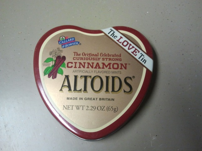 Two Nickels Tin Altoid Box Shaped Like A Heart