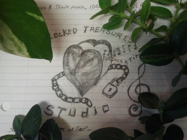 Unlocked Treasures Studio Heart in Chains Logo