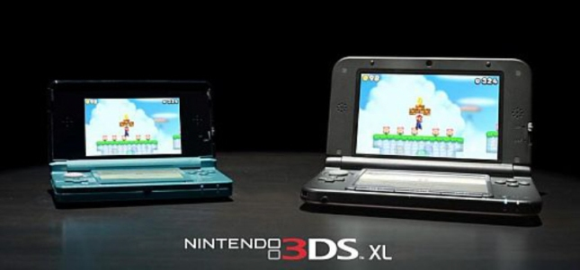 3DS XL System Screensize Comparison to Original 3DS
