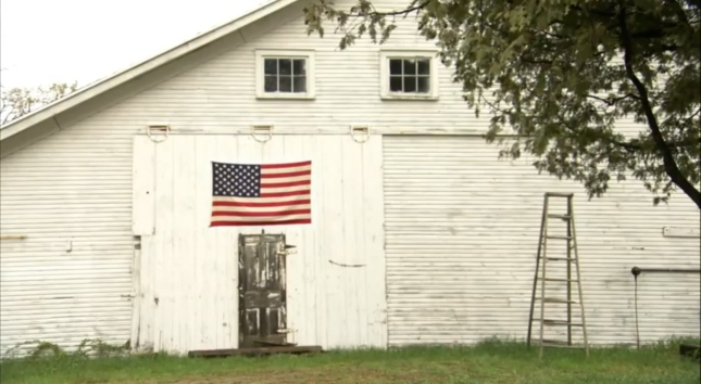 American Flag On Barn (Celebrating Flag Day 2012)