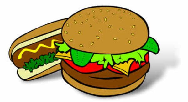 Hamburger watch us play games for Hamburger clipart