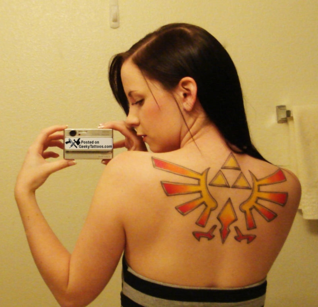 Sexy Girl Triforce Tattoo