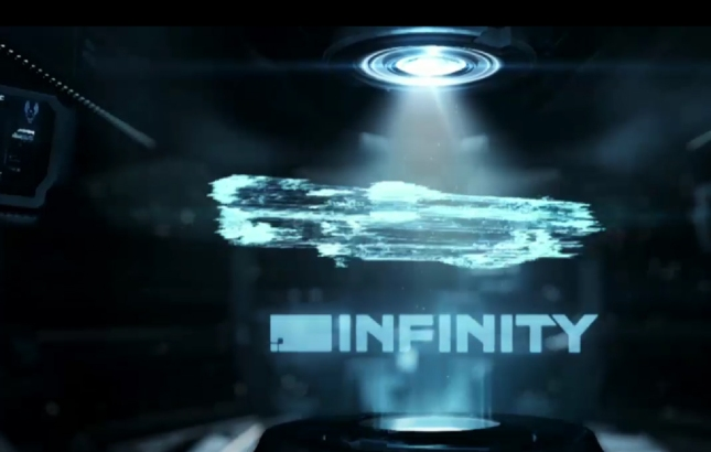 Halo 4 Infinity Ship Hologram Schematics Screenshot