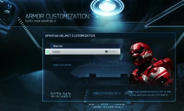 Halo 4 Multiplayer Armor Customization Screenshot