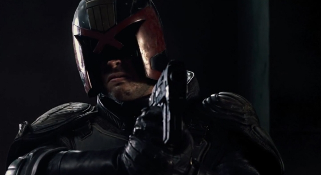 Dredd With Gun Remake 2012 Screenshot