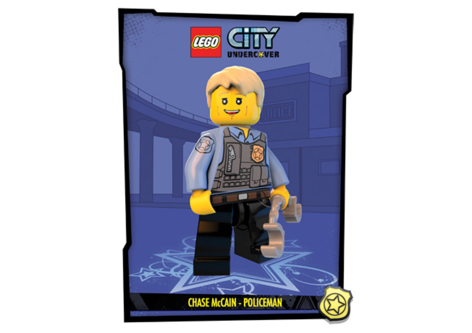 This is Lego City  UnderCover Artwork of Chase McCain as a Cop Lego City Undercover Chase Mccain Civilian