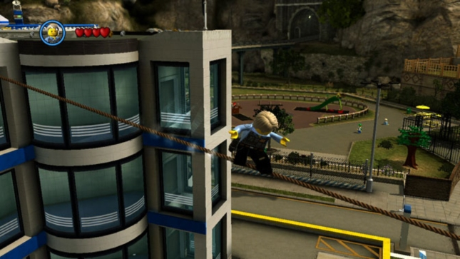 Lego City Undercover Tightrope Walking Screenshot (Wii U)