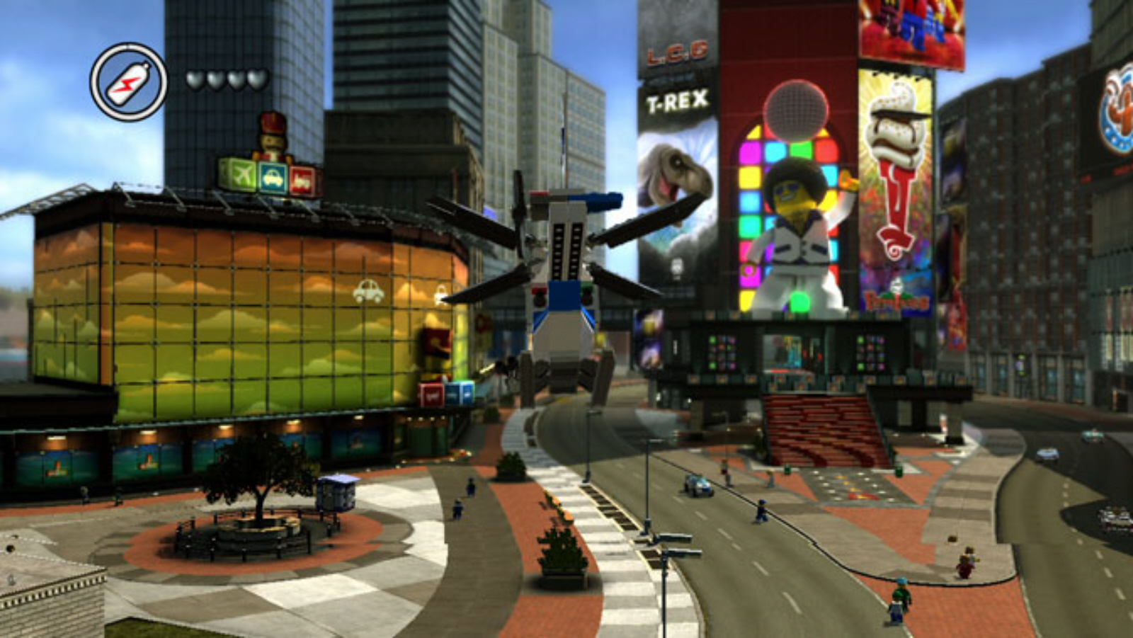 lego city undercover screenshots wii u lego city strories grand theft lego in action flying. Black Bedroom Furniture Sets. Home Design Ideas