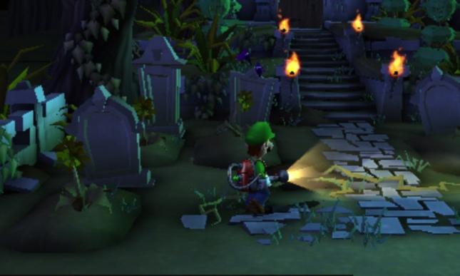 Luigi's Mansion 2: Dark Moon Graveyard Screenshot