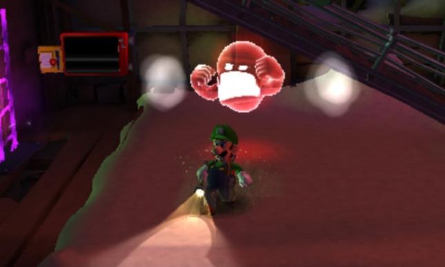 Luigi's Mansion 2: Dark Moon Red Ghost Screenshot