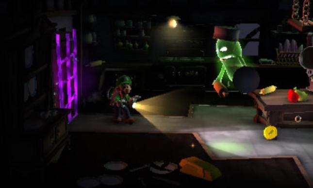 Luigi's Mansion 2 Gameplay Screenshot of Detective Green Ghost