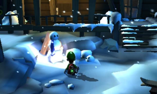 Luigi's Mansion 3DS Gameplay Screenshot - Snowman!