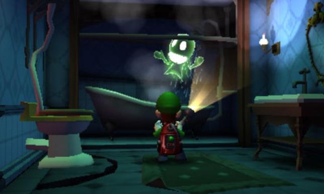 Luigi's Mansion: Dark Moon Haunted Bathroom Toilet and Show Screenshot