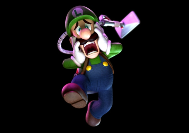 Luigi's Mansion 2 Luigi Screaming Art