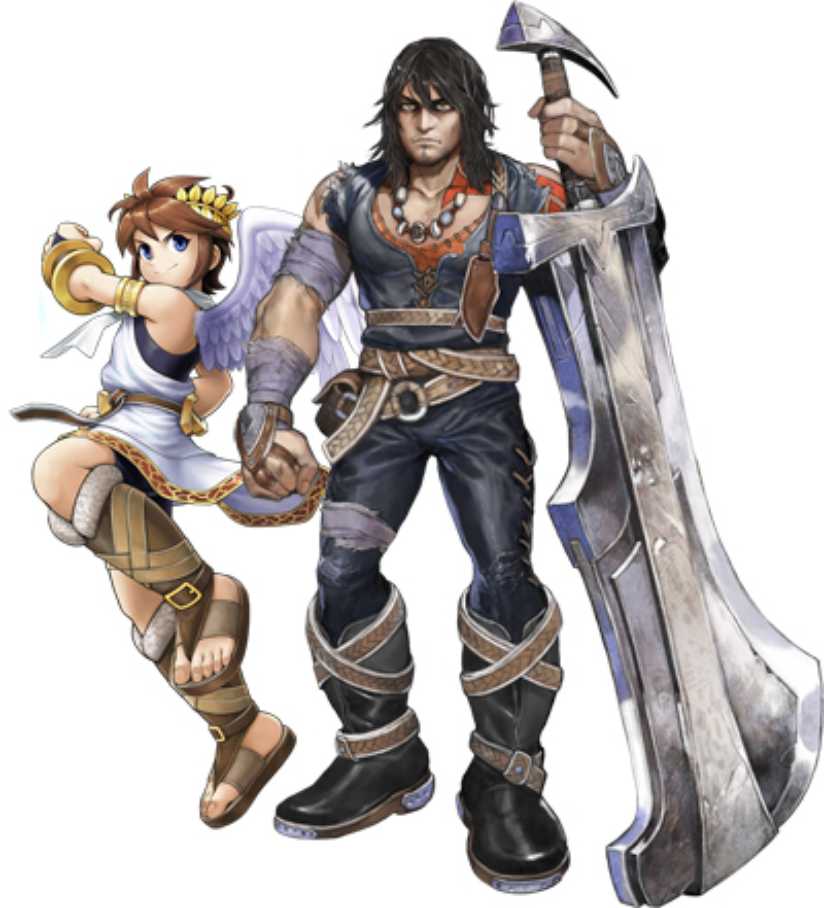 Magnus And Pit Art In Kid Icarus Uprising For 3DS