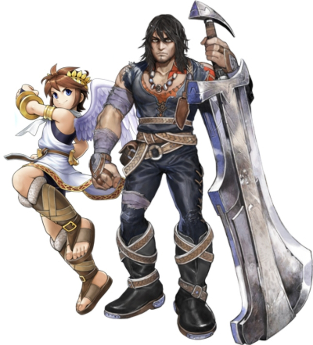 Magnus and Pit Art In Kid Icarus: Uprising for 3DS