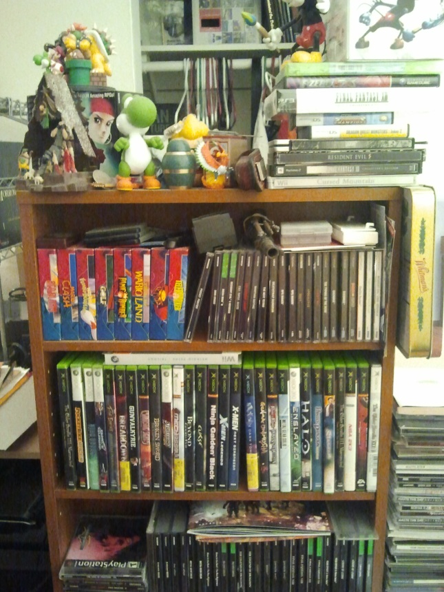 My Game Collection Shelf (Only a few)