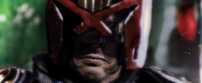 Judge Dredd's new helmet 2012 Screenshot