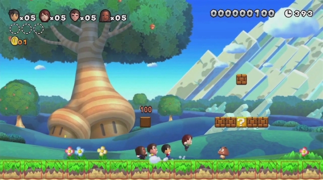 New Super Mario Bros. U Small Mii Playable Characters Screenshot