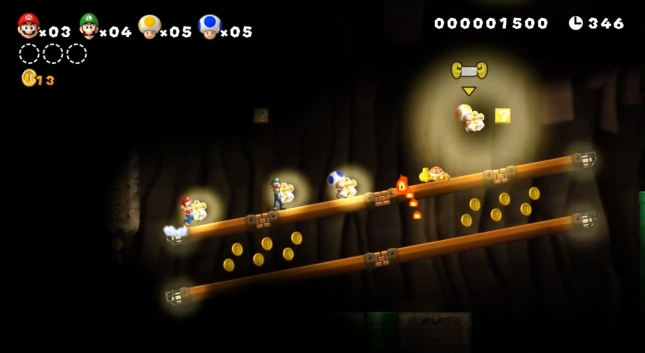Small Yoshis Return New Super Mario Bros. U Screenshot (Yellow Yoshi)