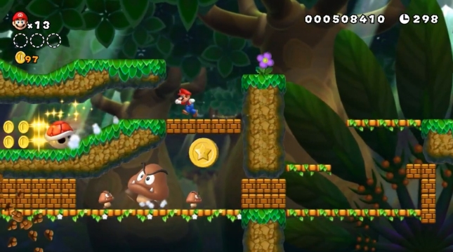 New Super Mario Bros. U Star Coin Collecting Screenshot