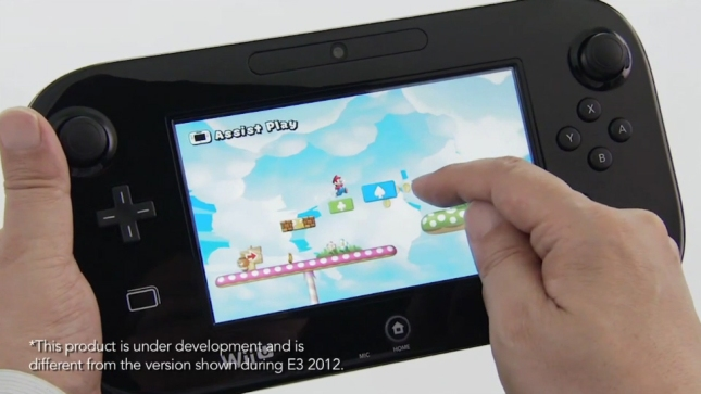 New Super Mario Bros. U Boost Mode Screenshot Wii U GamePad Touchscreen Controller