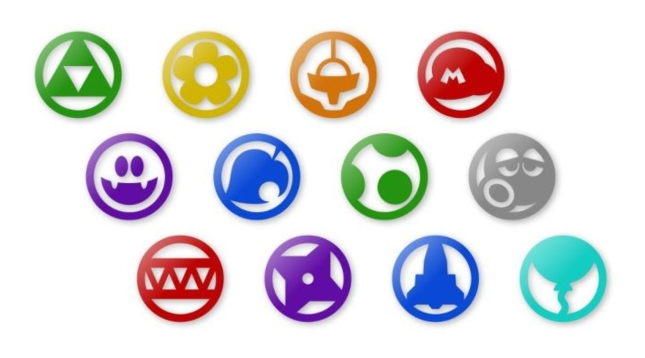 Nintendo Land Minigame Icons Including Samus Helmet