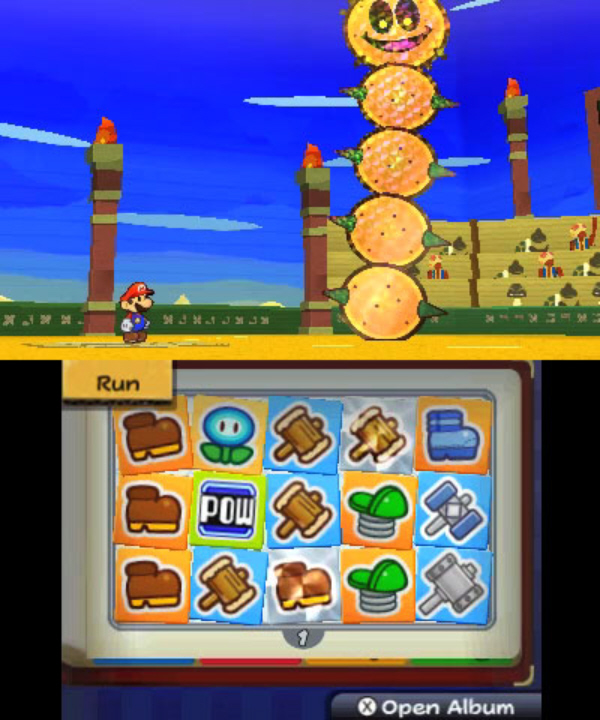 Paper Mario 3DS: Sticker Star Giant Pokey Screenshot