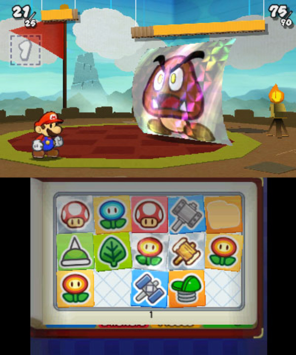 Paper Mario 3DS: Sticker Star Giant Goomba Boss Screenshot