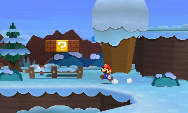 Paper Mario 3DS Sticker Star Screenshot Snow World